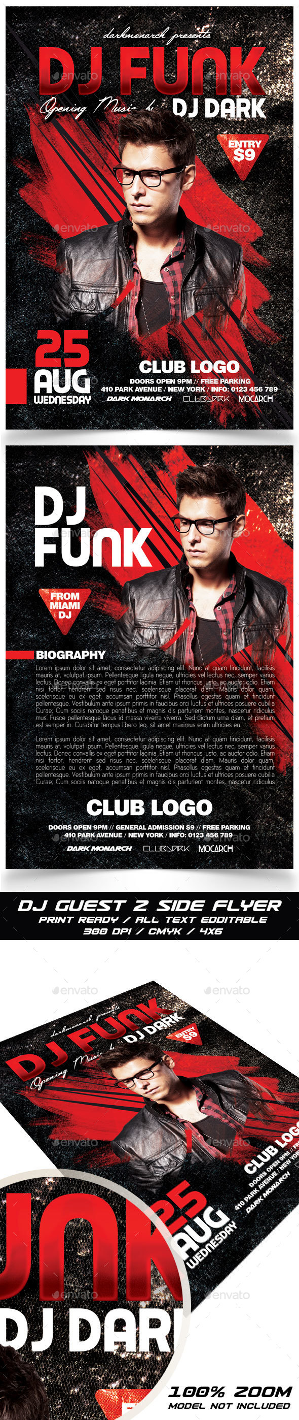 Dj Guest Flyer - Clubs & Parties Events