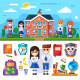 Welcome to School - GraphicRiver Item for Sale