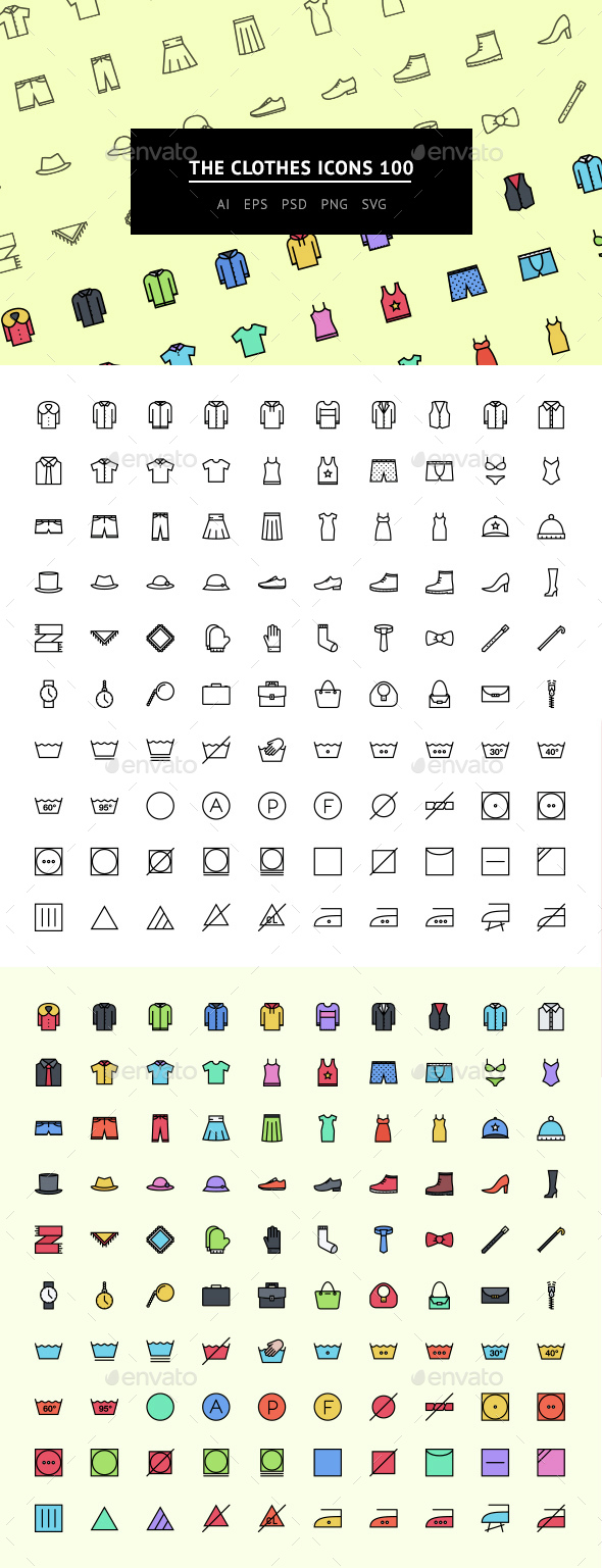 The Clothes Icons 100 - Web Icons
