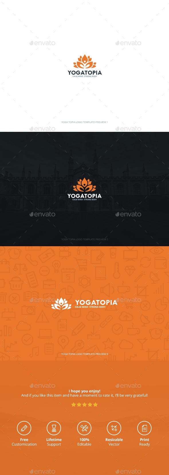 Yoga Topia Logo - Logo Templates