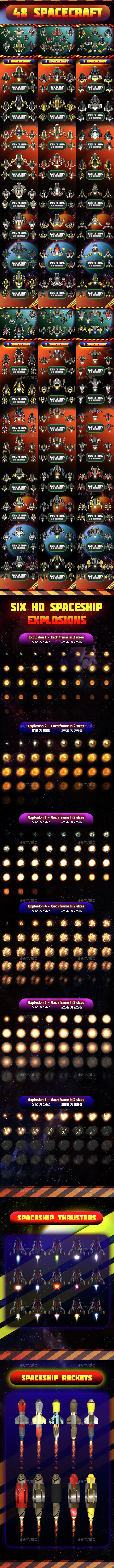 Spacecraft Ultra Pack 06 - Sprites Game Assets