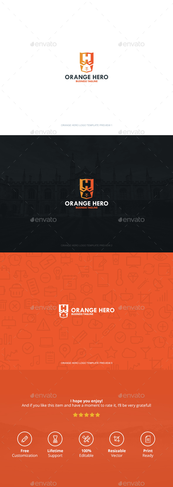 Orange Hero Logo - Logo Templates