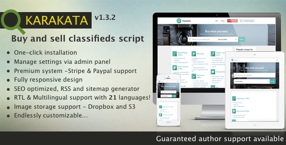 Karakata PHP classified buy and sell marketplace - CodeCanyon Item for Sale