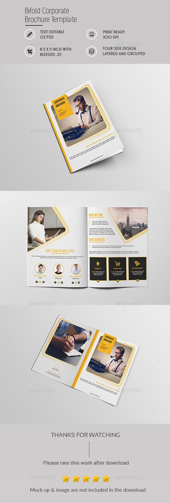Bifold Corporate Brochure Template - Brochures Print Templates