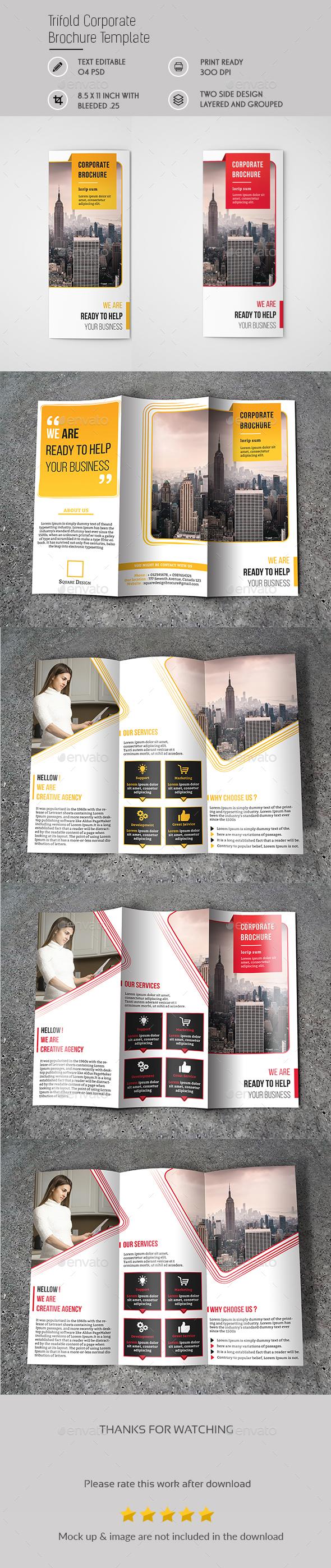 Tri fold Corporate Brochure Template - Brochures Print Templates