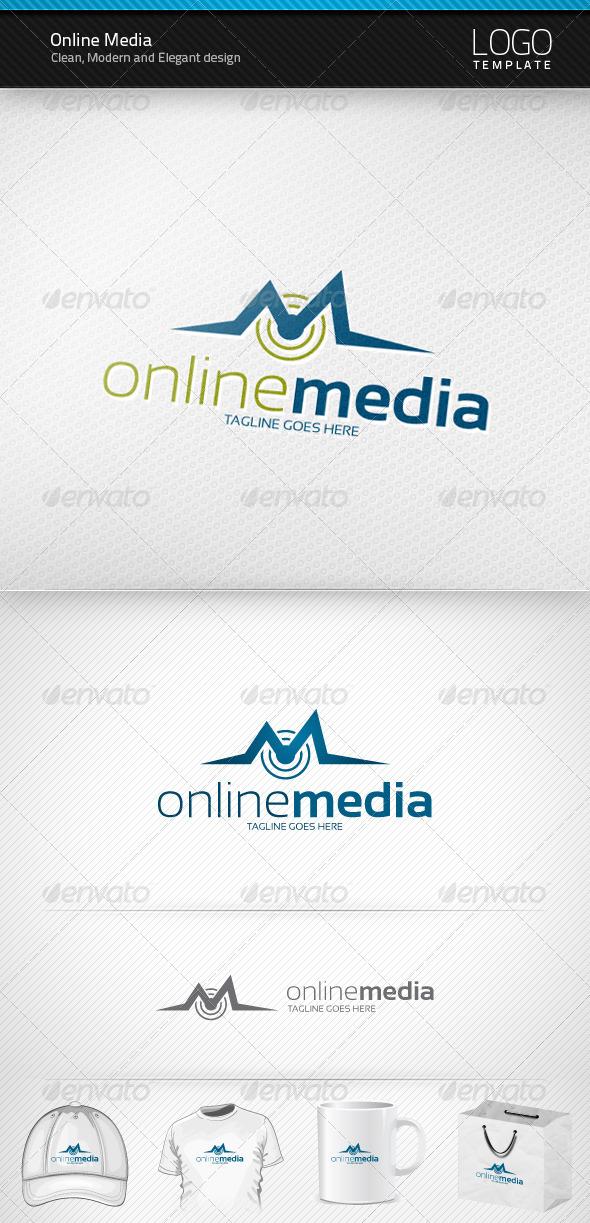 Online Media Logo - Letters Logo Templates
