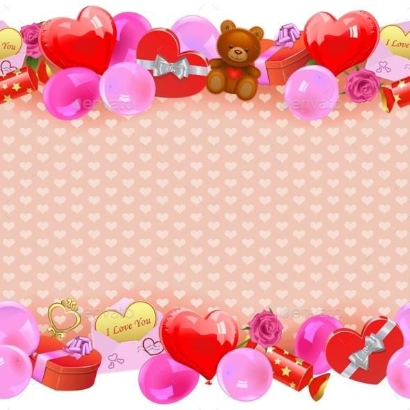 Vector Valentine Day Border - Valentines Seasons/Holidays
