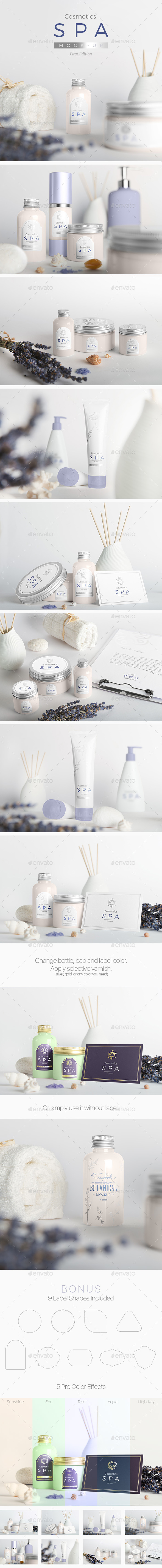 SPA Cosmetics Mock-Up V.1 - Beauty Packaging