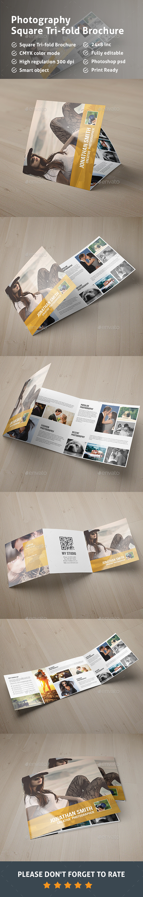 Square Tri- fold Photography Brochure - Corporate Brochures