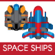 15 Flat Vector Spaceship Sprites - GraphicRiver Item for Sale