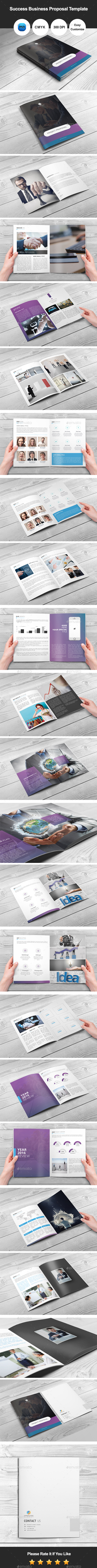Success Business Proposal Template - Corporate Brochures