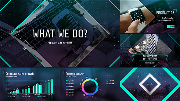 after effects lyric video template - business of the future modern corporate presentation by