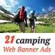 Adventure Camping Web Banner Vol.2 - GraphicRiver Item for Sale