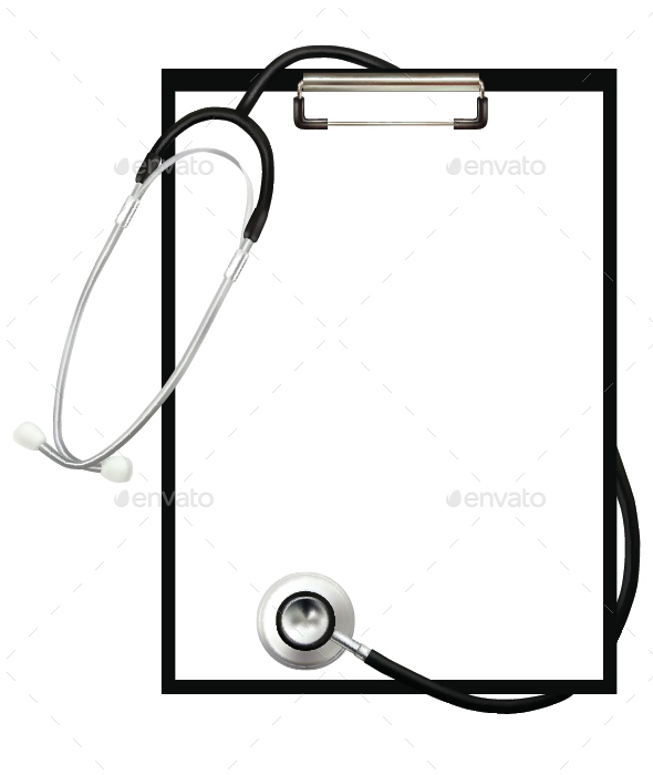 Stethoscope and Clipboard - Health/Medicine Conceptual