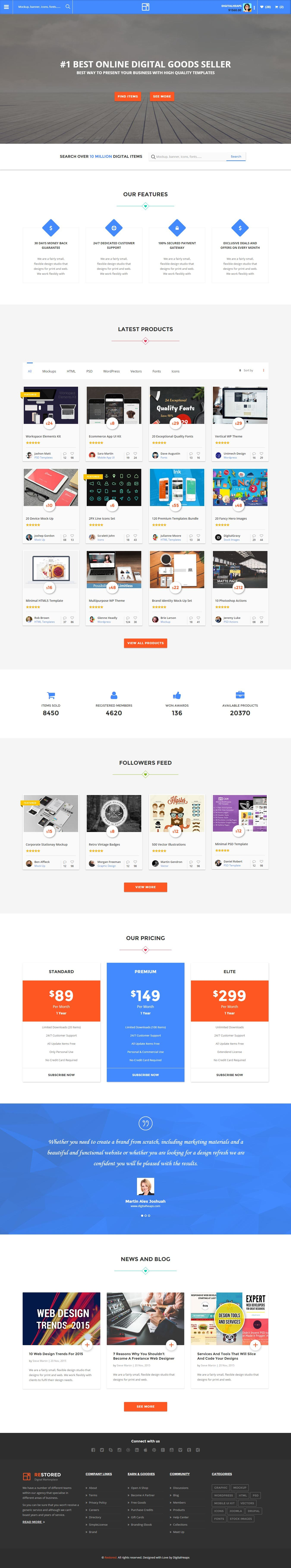 Restored Market Placecoupons And Deals Html Template By Digisamaritan