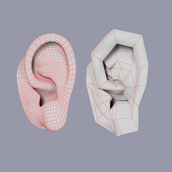 Low Poly Human Ear By Akirasdream 3docean