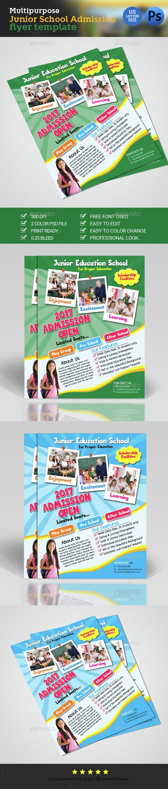 School Admission Flyer - Flyers Print Templates