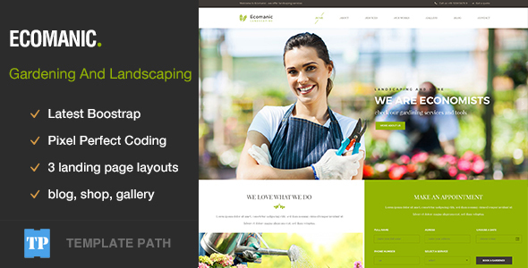 Ecomanic – Gardening and Landscaping HTML Template