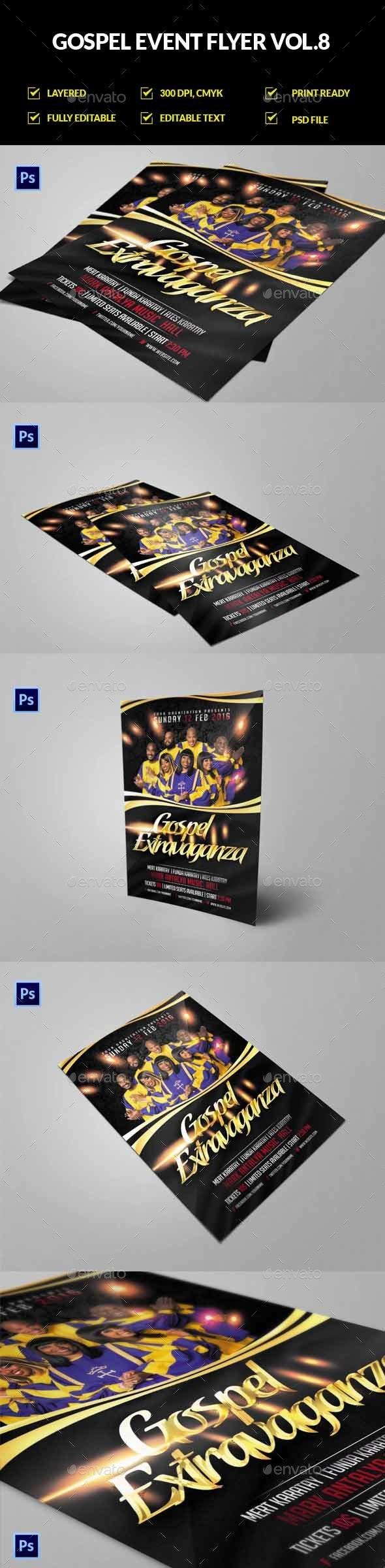 Gospel / Church Event Flyer Vol.8 - Church Flyers