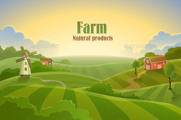 Farm Flat Landscape - Landscapes Nature