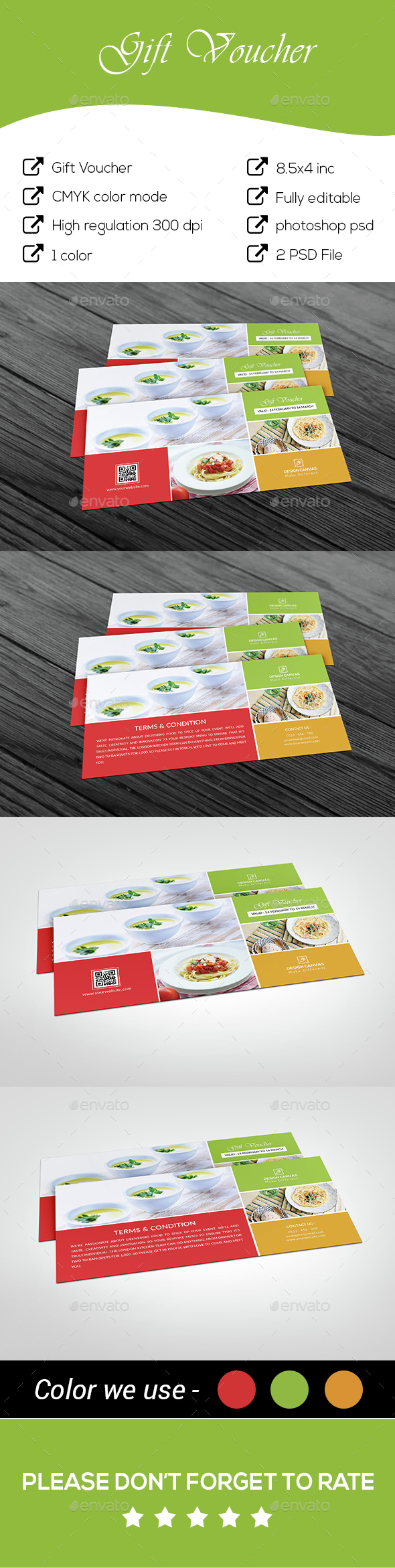 Restaurant Gift Voucher - Cards & Invites Print Templates