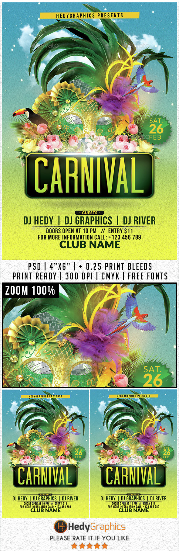 Carnival - Flyer Template - Events Flyers