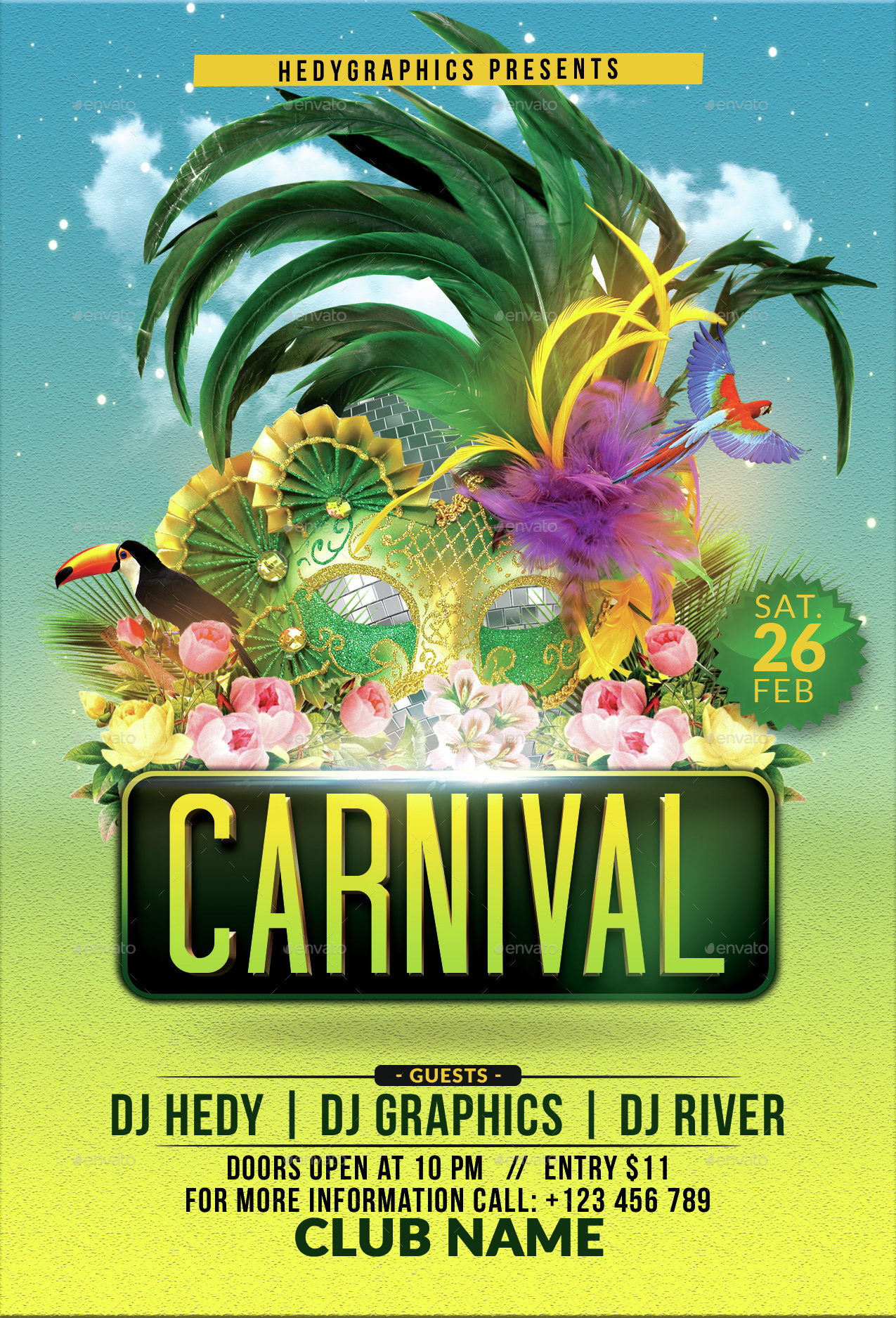 Carnival Flyer Template By Hedygraphics Graphicriver