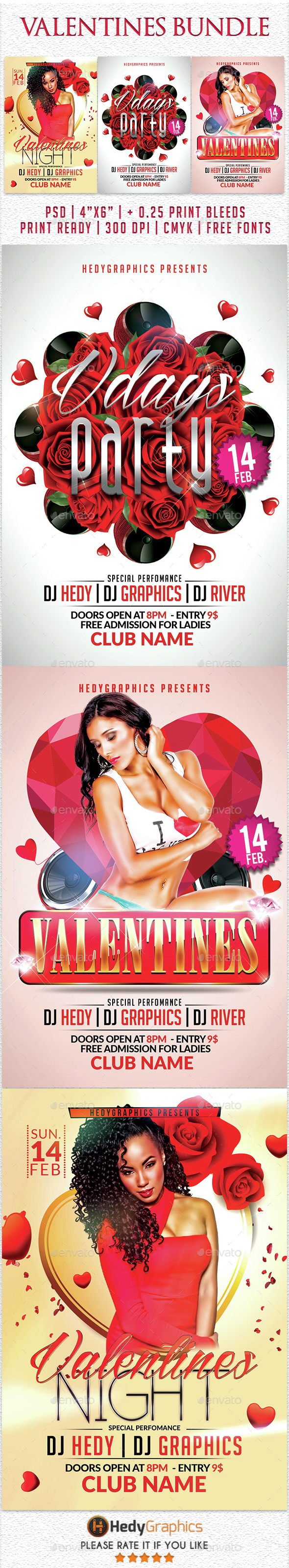 Valentines Bundle 3 in 1 - Clubs & Parties Events