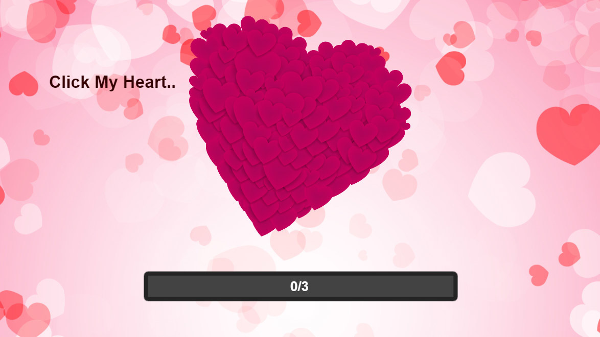 Happy Valentine\'s Day HTML 5 Clicker Card by Sparximer | CodeCanyon