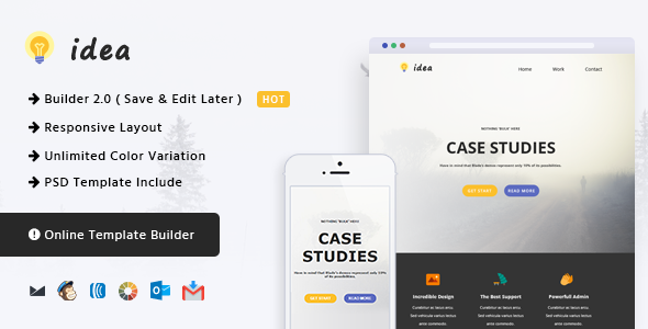 Idea - Responsive Email and Newsletter Template by CastelLab ...