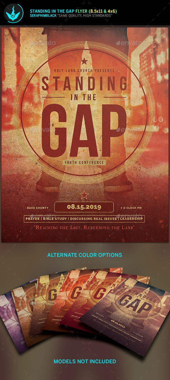 Standing in the Gap Church Flyer Template - Church Flyers