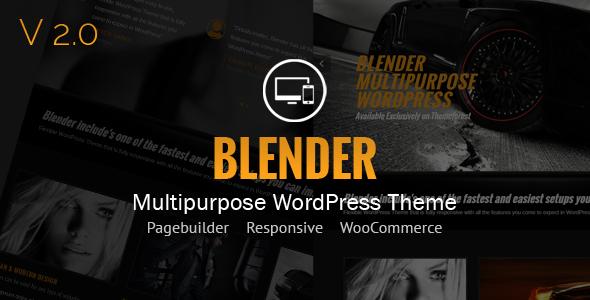Free Download Blender WordPress Portfolio Theme Nulled Latest Version