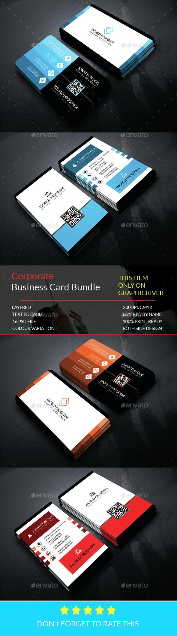 Corporate Business card Bundle.013 - Corporate Business Cards