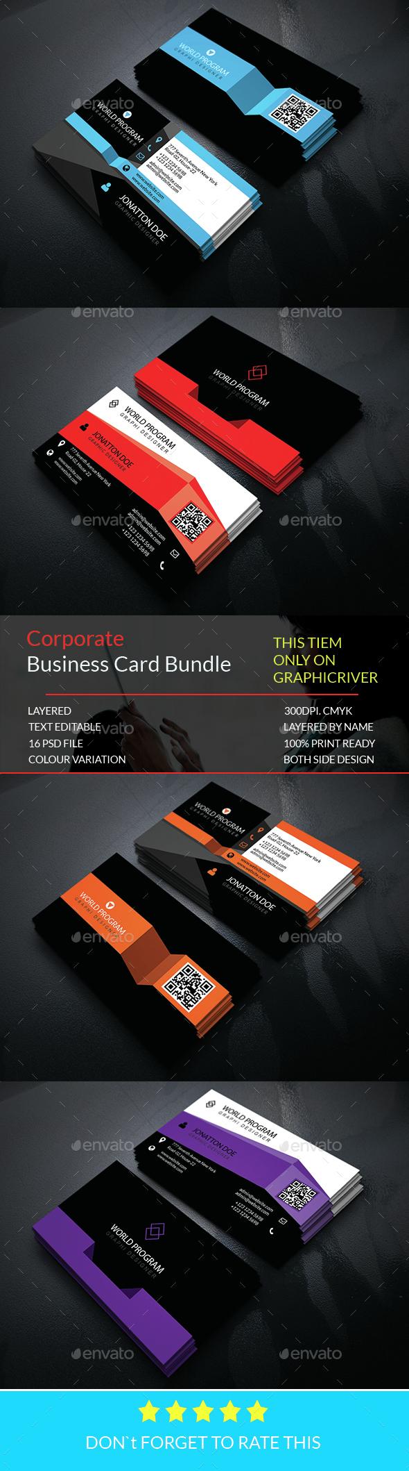 Corporate Business card Bundle.015 - Corporate Business Cards