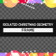 Isolated Christmas Geometry Frame - VideoHive Item for Sale