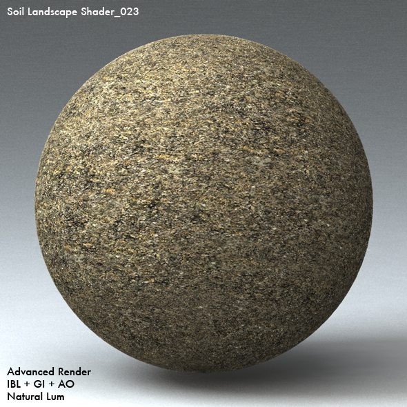 Soil Landscape Shader_023 - 3DOcean Item for Sale