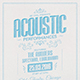 Acoustic Flyer/Poster - GraphicRiver Item for Sale