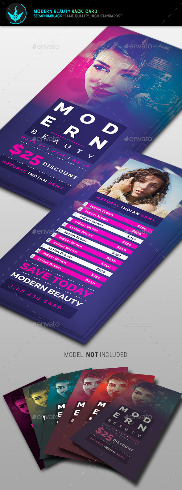 Modern Beauty Rack Card Template - Commerce Flyers