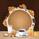 Breakfast Background with Coffee ,Croissant,Biscuits and Cookies. - GraphicRiver Item for Sale