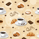 Seamless Pattern with Coffee Cups. - GraphicRiver Item for Sale