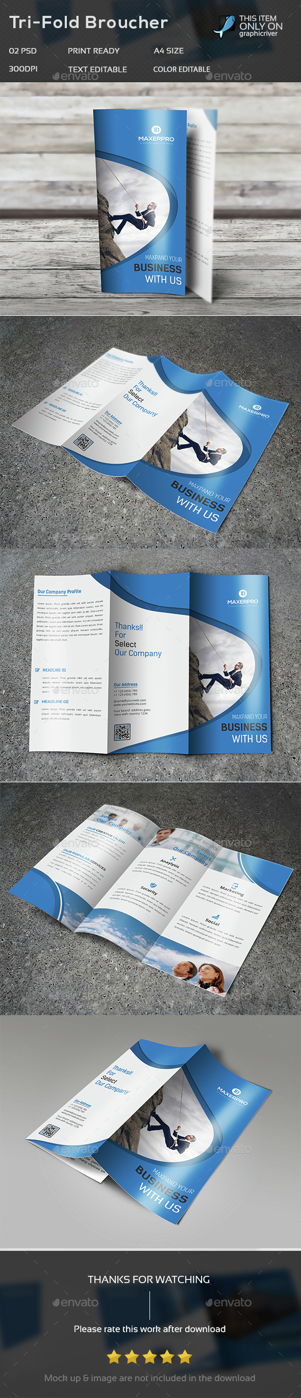 Creative Corporate Trifold Brochure Template -18 - Brochures Print Templates
