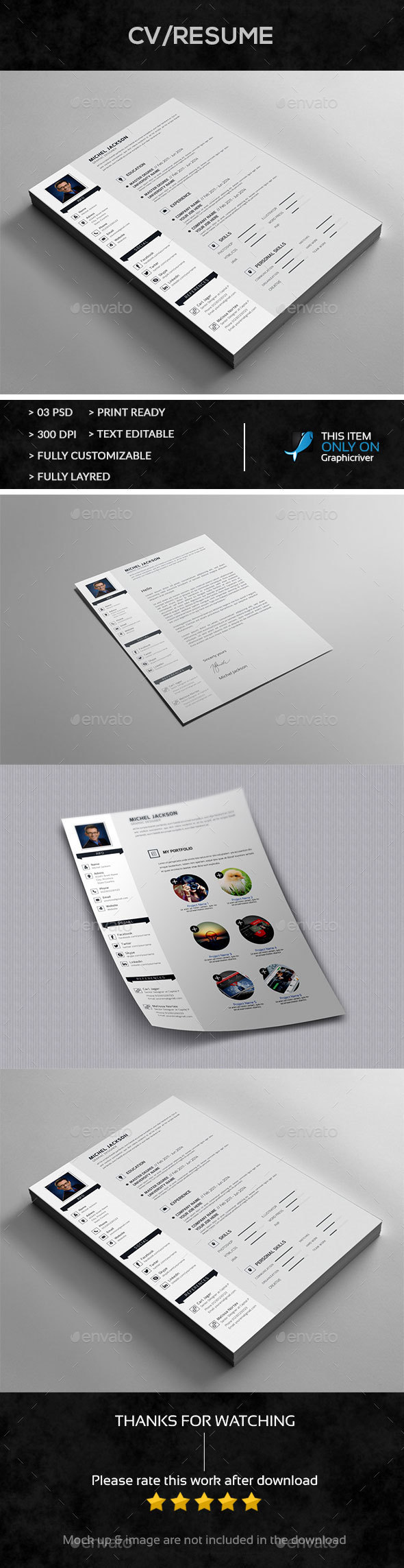 Resume+Cover+Portfolio Letter - Resumes Stationery