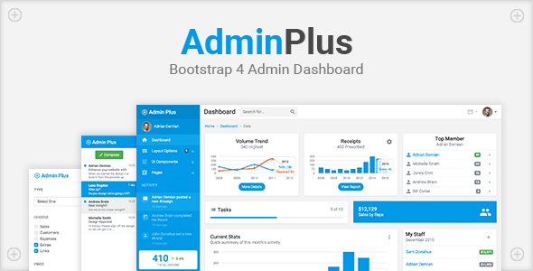 AdminPlus – Bootstrap 4 Admin Dashboard
