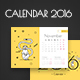 2016 Calendar with Monkeys - GraphicRiver Item for Sale