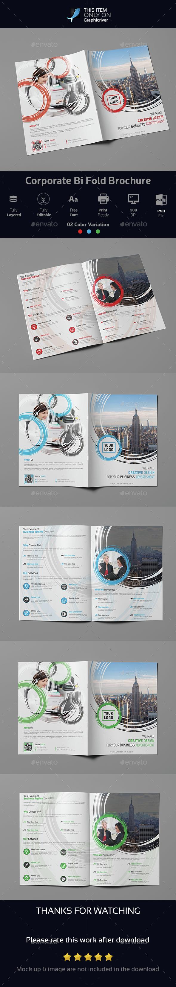 Corporate Bi Fold Brochure 02 - Brochures Print Templates