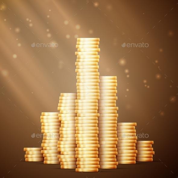 Gold Coin Stack  - Decorative Symbols Decorative