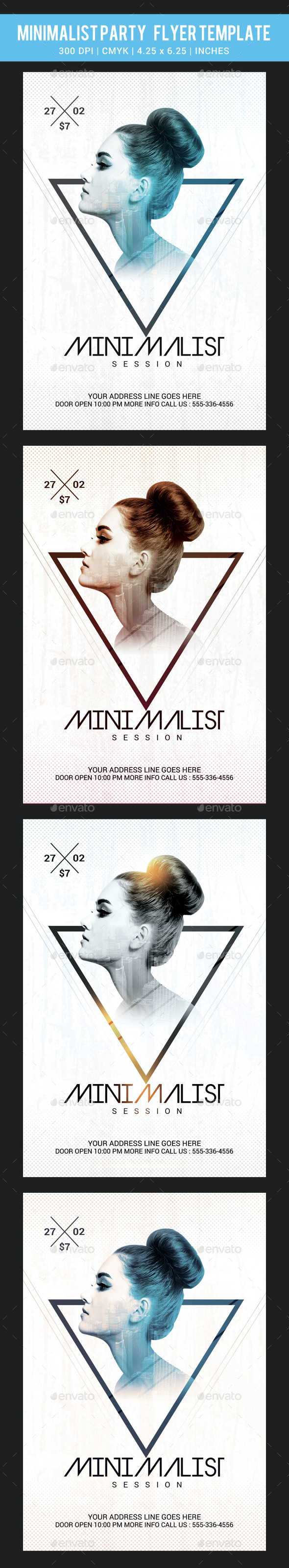 Minimalist Party Flyer Template - Clubs & Parties Events