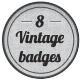Vintage Logo Badges - GraphicRiver Item for Sale