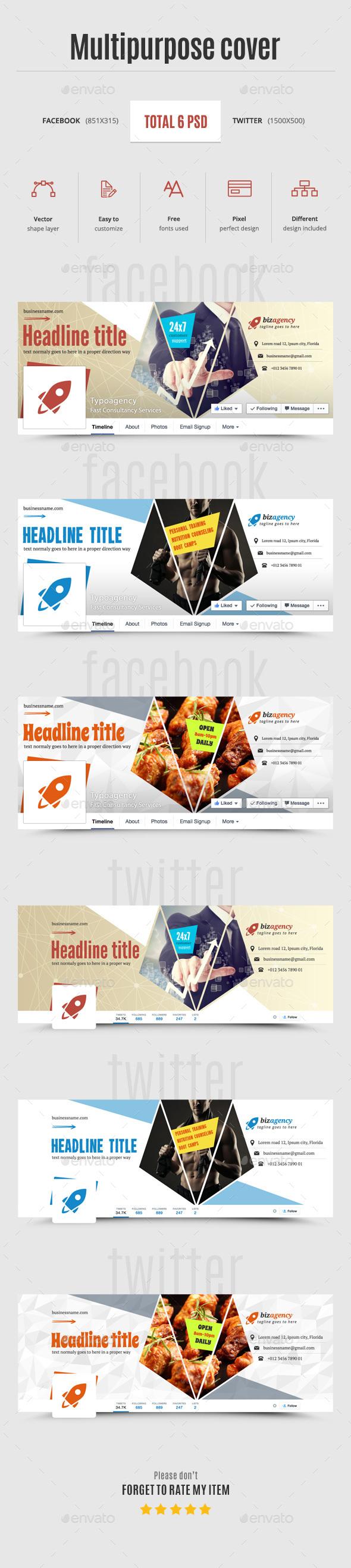 Multipurpose Business Timeline - Social Media Web Elements