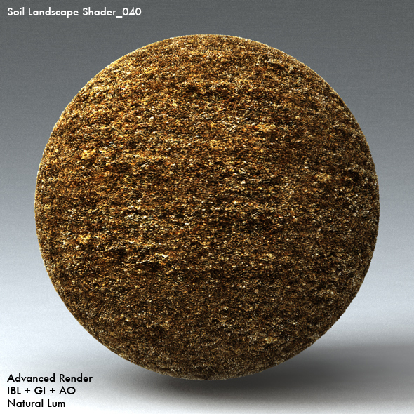 Soil Landscape Shader_040 - 3DOcean Item for Sale